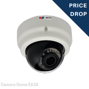 Camera Dome - 3MP Indoor Dome with D/N, Adaptive IR, Basic WDR, Vari-focal lens - E62A