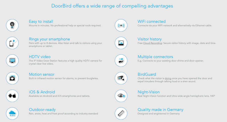 SSC Doorbird Competitive Advantages